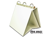 easel binder stand up 3 ring white