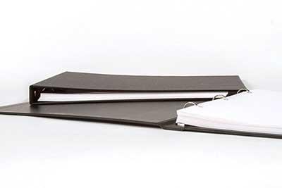 Landscape Format Letter Ring Binder 3 Ring 1 Inch Cloth Binder Horizontal Short Side