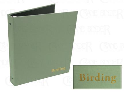 bird watching cloth 3 ring notebook field birding