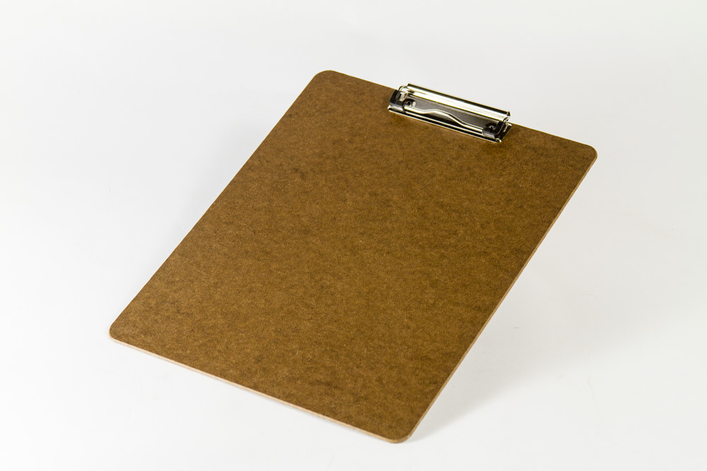 Wood clipboard dark brown