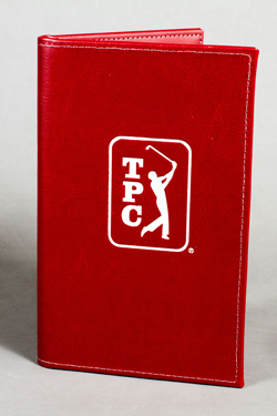 Leather menu cover Red