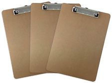 Trade Quest Letter Size mdf Clipboard 3 Pack