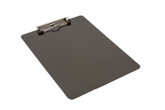 jet black powder coated clipboard