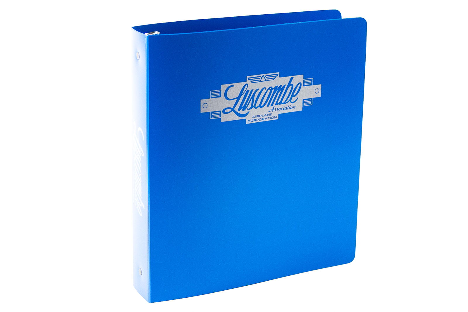 3 ring binder poly blue printed Luscombe