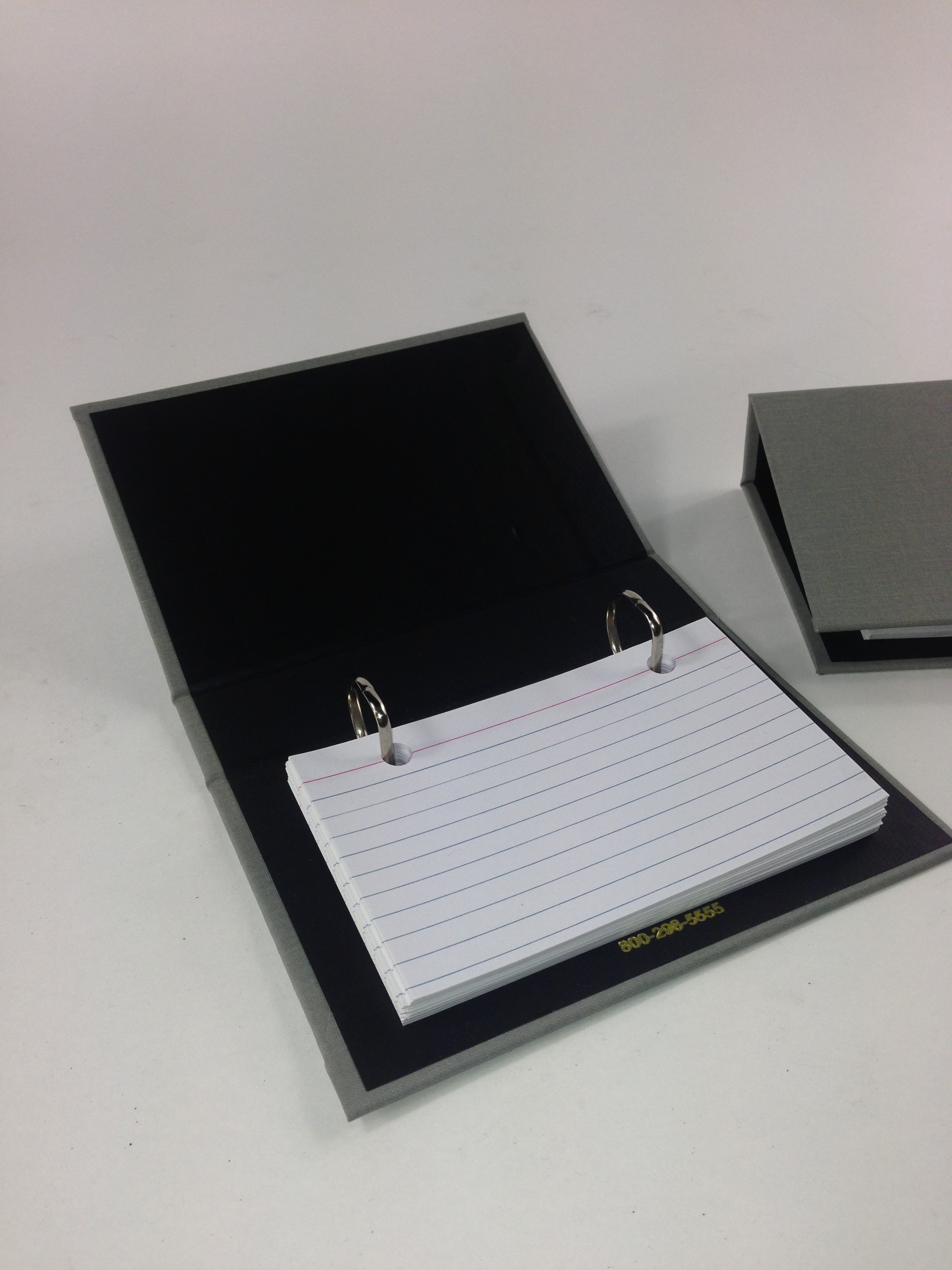 Index card binder 2 ring cloth binder 3x5 index card recipe index