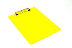 powder coated metal clipboard yellow